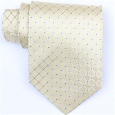 SKU#YW191 Silk Yellow/Blue Extra Long Woven Necktie $39