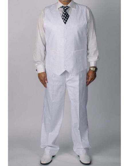 Mens beach wedding tuxedo silversilk white 100% coated linen Dress Tuxedo Wedding Vestand pants 2 piece set