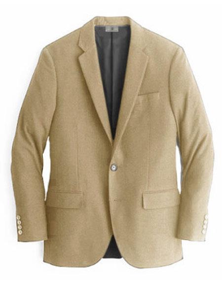 Men's Beige  Cashmere & Wool Blazer