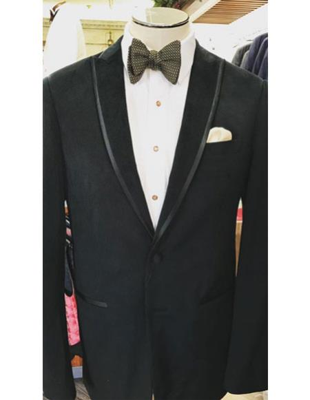 Mens Velvet Trim Wedding ~ Prom ~ Fancy Tuxedo Mens blazer Jacket For Men