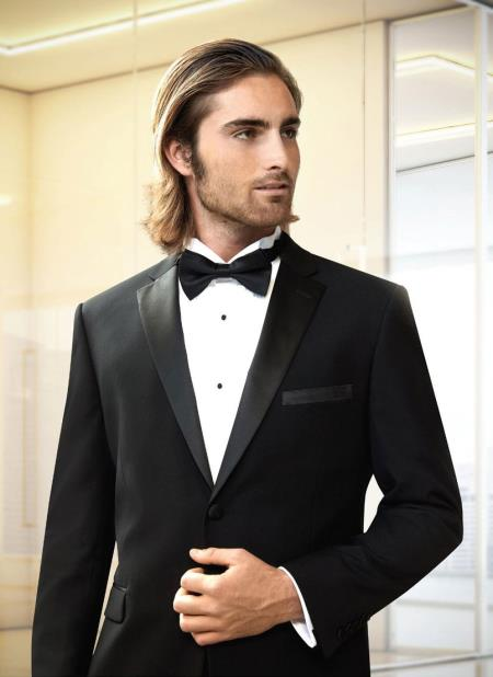 Men's  Modern Fit  Black Tuxedo
