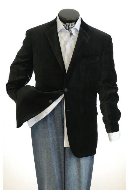 Big And Tall Mens Black Blazers Clearance Cheap Priced Velvet ~ Mens blazer Jacket / Sport Coat