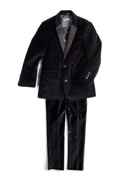 Men's 2 Button Black Velvet Men's blazer Jacket