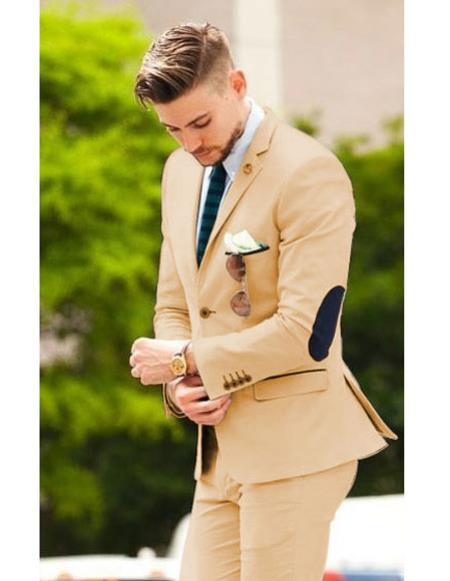 Mens suit jacket with elbow patches Matching Free pants