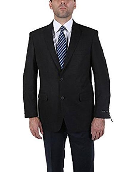 Men's Classic Black 2 Button Blazer Suit Jacket