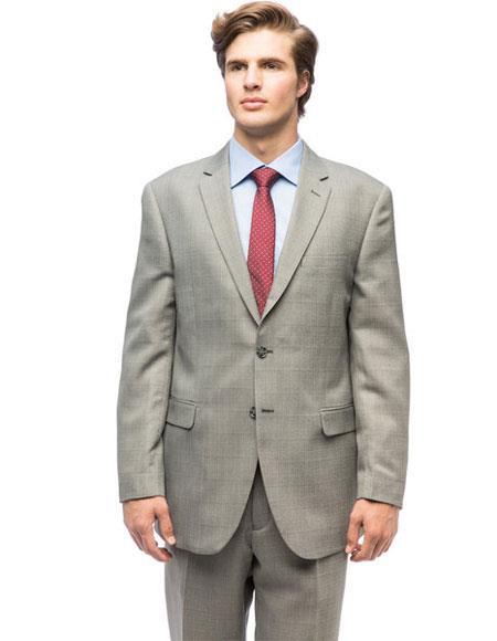 Mens Classic Plaid Single Breasted Authentic Giorgio Fiorelli Brand suits