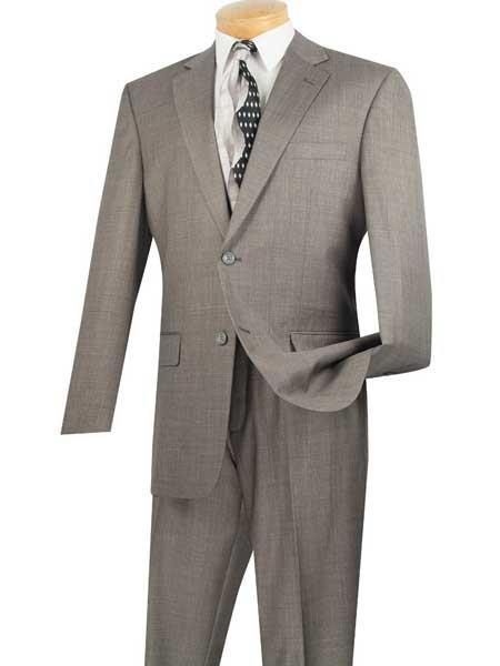 Mens 2 Piece Notch Lapel Gray Big And Tall Single Breasted Extra Long Suit