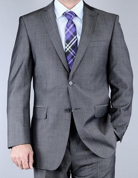 Mens Sharkskin Single Breasted Inexpensive Affordable Discounted Authentic Giorgio Fiorelli Brand suits