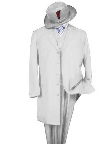 Mens Classic Long Fashion Zoot white Suit (Wholesale Price available)