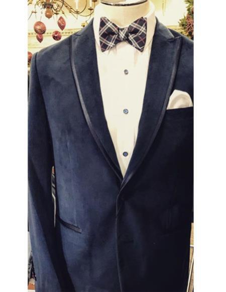 Fancy Tuxedo velour Blazer Jacket ~ Velvet Trim Wedding ~ Prom For Men