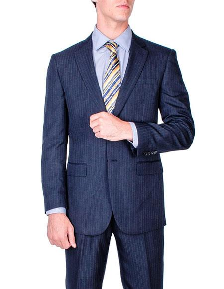 Buy CH1384 Men's Stripe Single Breasted Modern Fit Authentic Giorgio Fiorelli Brand suits