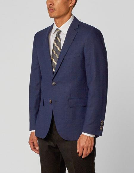 Alberto Nardoni Authentic Brand Men's  Double Vent Dark Navy Two Piece Suit