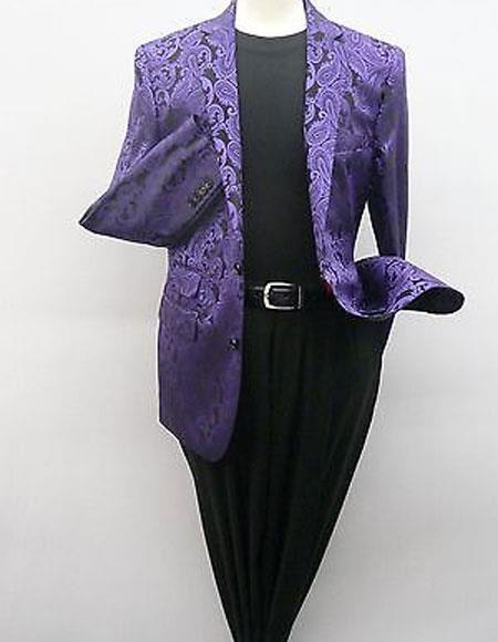 Alberto Nardoni Brand Men's Purple Blazer (Wholesale Price $75 (12pc&UPMinimum))