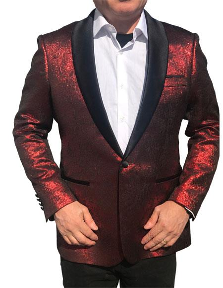 Alberto Nardoni Brand Fashion Dark Red ~ Burgundy ~ Wine ~ Maroon Color Looking Sequin ~ Shiny ~ Paisley Tuxedo Dinner Jacket Cheap Blazer Jacket For Men Sport coat