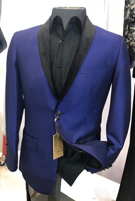 Men's Royal Blue Fancy Blazer ~ Sport Coat ~ Jacket