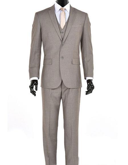 Men's 3 Piece Sand Modern Fit Suit