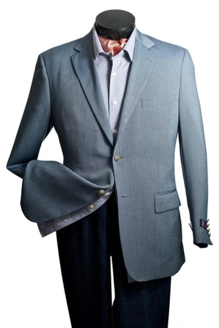 Mens Cheap Priced Designer Fashion Dress Casual Blazer For Men On Sale Blazer - Notch Lapel Steel Blue