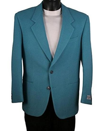 Men's Teal Blue Cheap Priced Designer Fashion Dress Casual Blazer For Men On Sale 2 Button Blazer
