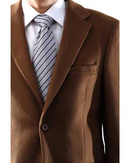 Model Charles Mens Single Breasted 2 Button Lamb Wool Cashmere Sport Coat Vicuna Blazer