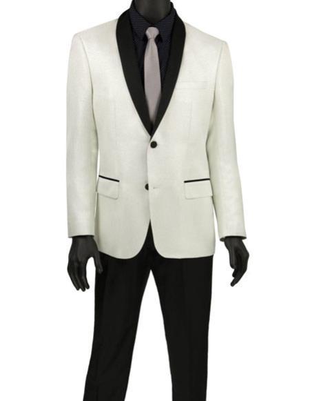 Men's White Fashion Blazer ~ Sport Coat ~ Tuxedo Dinner Jacket