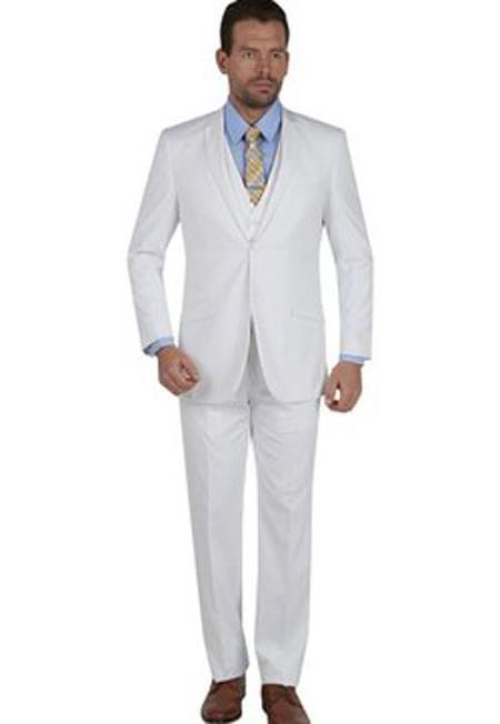 Men's Slim Fit 3 Piece Notch Collar