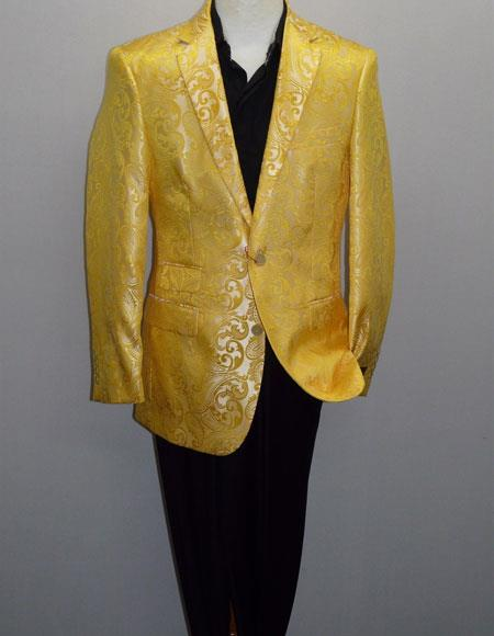 Alberto Nardoni Brand Mens Yellow Blazer (Wholesale Price $75 (12pc&UPMinimum))