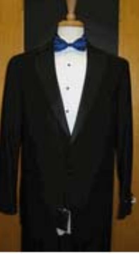 SKU#MW341 Single Button Notch Lapel Black Tuxedo