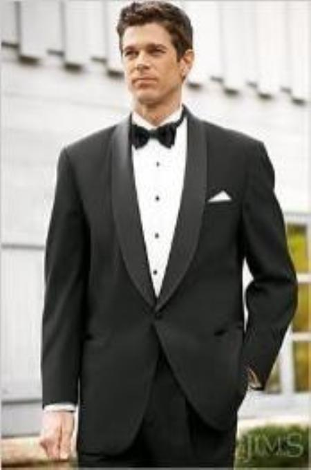 Fitted Slim Fitc Cut Designer 1 Button Shawl Tuxedo With Pleated Pants