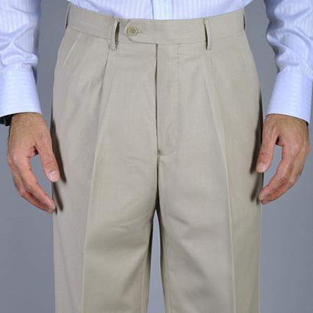 Bone Single Pleat Pants