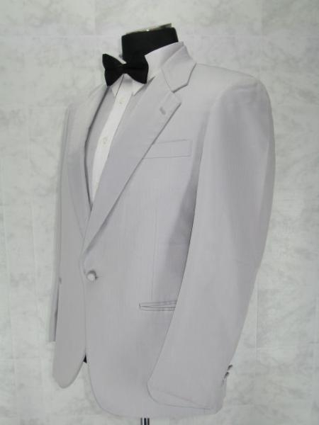 SKU#T111 Single Breasted Notch Lapel White 1 Button Notch Lapel jacket 100% Microfiber