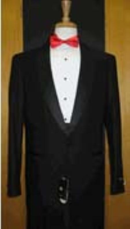 SKU#LR234 Buy & Dont pay Tuxedo Rental Single Button Shawl Lapel Black Tuxedo