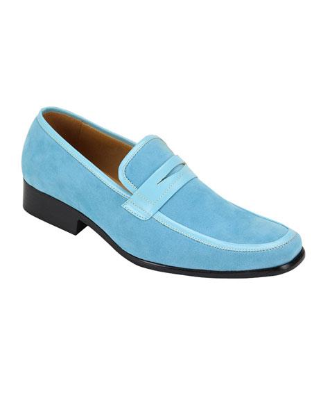 Baby Blue Slip-On Casual Dress