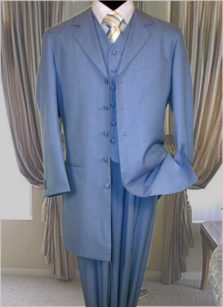 SKU#IL176 Sky 3PC Fashion Zoot Suit $179