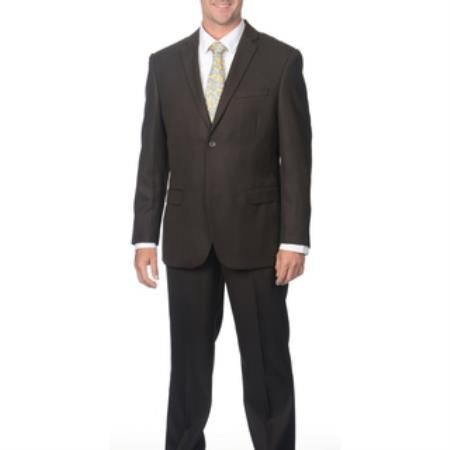 Mens Charcoal Grey Double Breasted Slim Fit Wool Suit