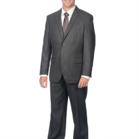 Charcoal 2-Button Cheap Priced Business Suits Clearance Sale For Men