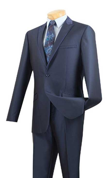 Tuxedo & Formal Slim Fit Suits Midnight Blue