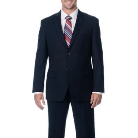 Mens Slim Fit Dark Navy 2-Button Cheap Priced Business Dark Blue Suit