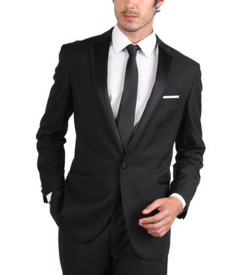 Single Button formalwear Jacket ~ Skinny Slim Fit Tapered Leg Lower Rise Pants Tuxedo