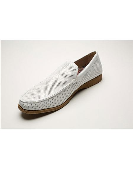 Men's Fashionable Slip-On Style White Dress Oxford Shoes Perfect for Men