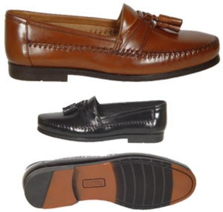 SKU# : 67043 Slip-on kiltie/tassel with nappa regal. Leather sole. $99