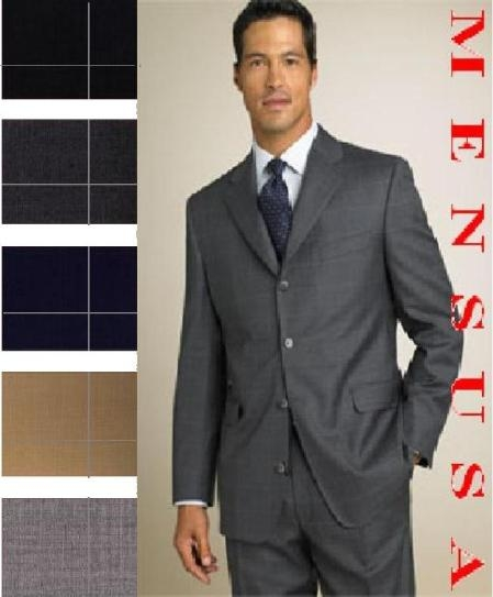 SKU# DJK933 SM01 Smooth PLAID Window Pane Pattern Super 150s Wool Comes in 6 Colors $179