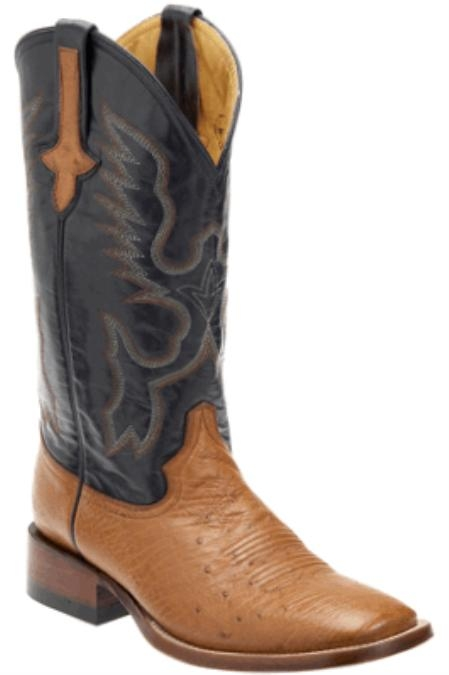 SKU#GM3928 Smooth Ostrich Copper~Rust~Cognac/Navy - S Toe $189