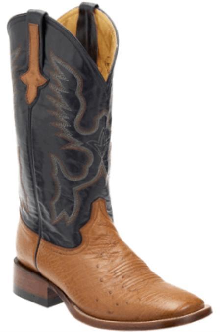 SKU#GM3928 Smooth Ostrich Copper~Rust~Cognac/Navy - S Toe $189