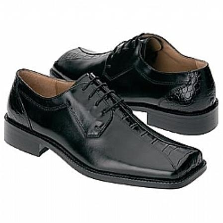SKU#Z30007 Smooth leather upper in a dress oxford style, with square toe,