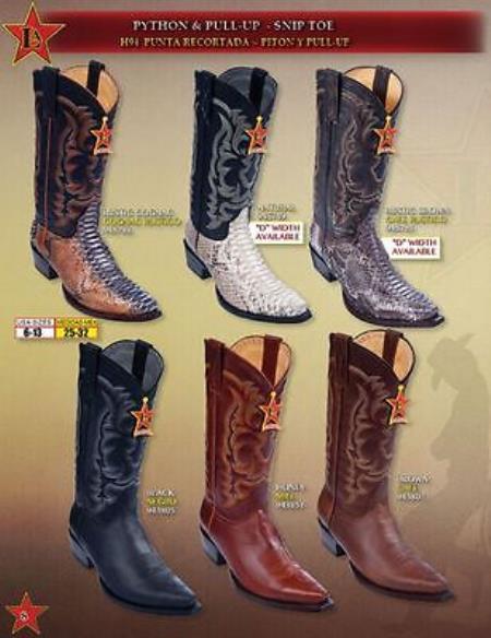 Toe pull-up Cowboy Western