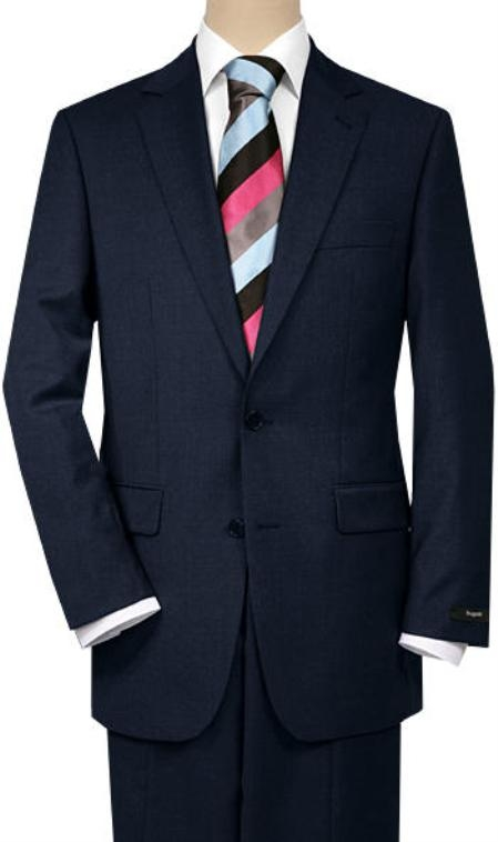 SKU#SP8 Solid Navy Blue Quality Suit Separates, Total Comfort Any Size Jacket&Any Size Pants