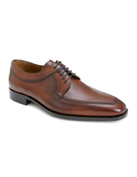 Buy AP478 Mens Tan Italian Calfskin Lace Split Toe Leather Shoes Authentic Mezlan Brand