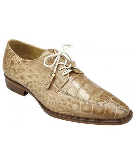 Mens Split Toe Taupe Genuine World Best Alligator ~ Gator Skin Leather Lining Shoes