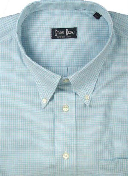 Gitman Sport Cotton Gingham Plaid sky blue On Sale: $105