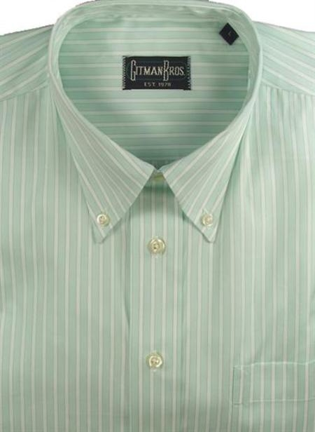 Gitman Sport Reverse Ground Stripes Mint On Sale: $115